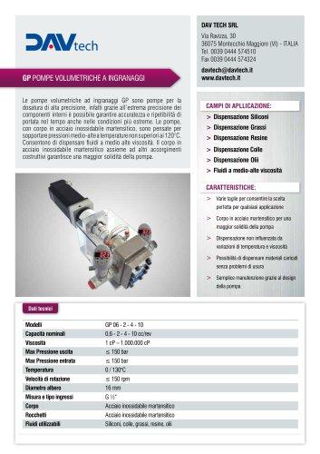 Datasheet - Pompe Volumetriche ad ingranaggi GP