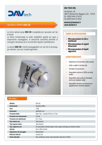 Micro valvola spray DAS 30