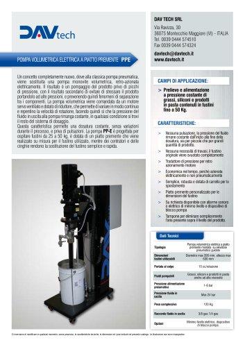 Pompa volumetrica elettrica a piatto premente PP-E