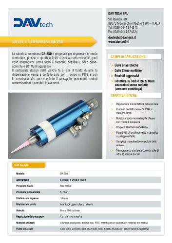 Valvola di dosaggio a membrana DA 250