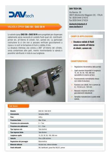 Valvola di dosaggio spray radiale DAS 50-50 N