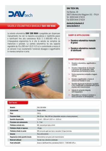 Valvola volumetrica manuale DAV 200 MAN