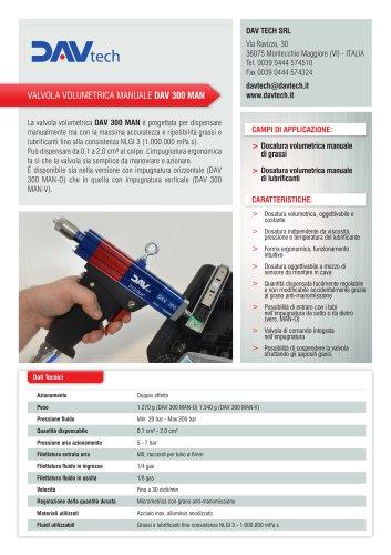 Valvola volumetrica manuale DAV 300 MAN