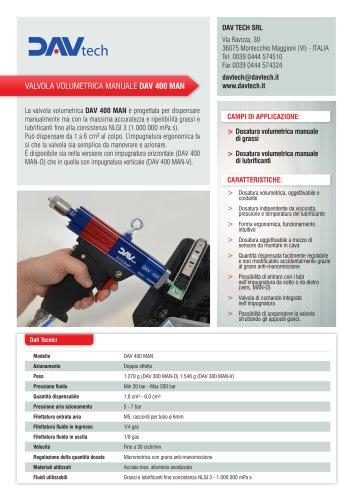 Valvola volumetrica manuale DAV 400 MAN