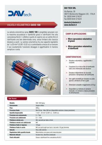 Valvola volumetrica spray DAVS 100
