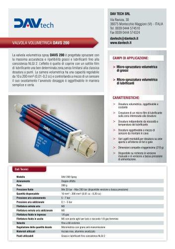 Valvola volumetrica spray DAVS 200