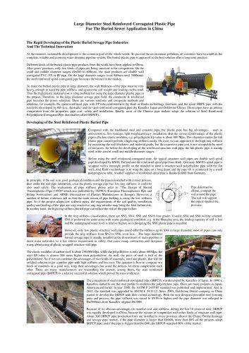 Goldstone Steel Reifnorce Corrugated SRPCP pipe
