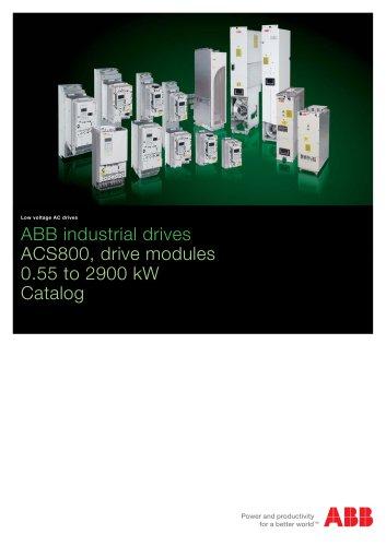 ACS800, drive modules, catalog