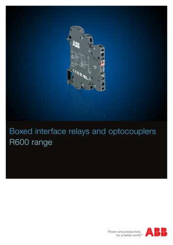 Boxed interface relays and optocouplers R600 range