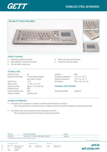 TKV-084-FIT-TOUCH-IP65-MGEH