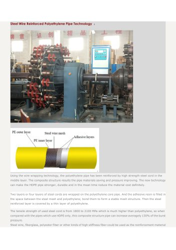 composite-pipe-extrusion-line/steel-wire-reinforced-polyethylene-pipe/