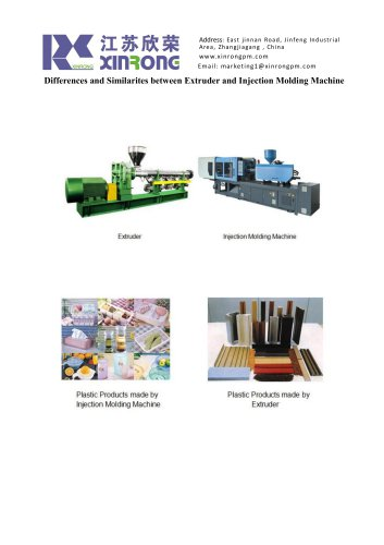 Differences and Similarites between Extruder and Injection Molding Machine