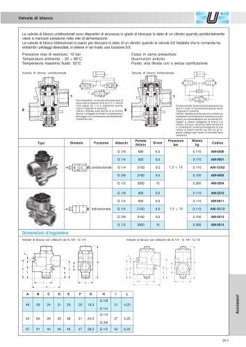 AM-55_Valvole di blocco G 1/8 ÷ G 1/2