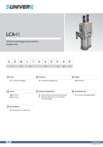 LCA40_Unità di centraggio pneumatica, doppia asta