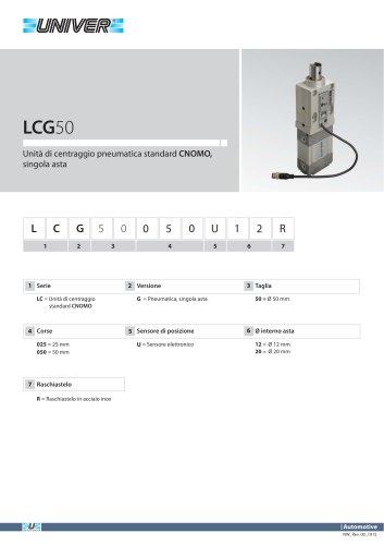 LCG50_Unità di centraggio pneumatica standard CNOMO, singola asta