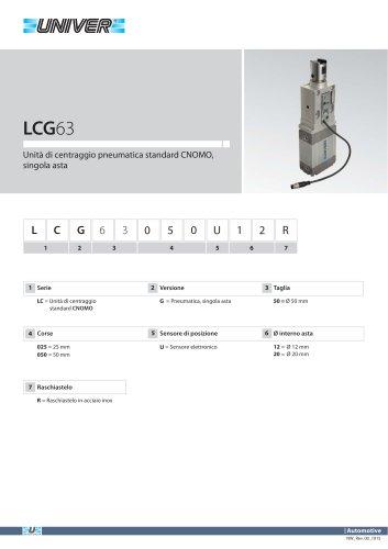 LCG63_Unità di centraggio pneumatica standard CNOMO, singola asta