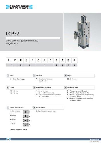 LCP32_Unità di centraggio pneumatica, singola asta