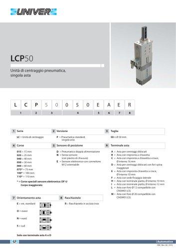 LCP50_Unità di centraggio pneumatica, singola asta