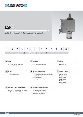 LSP32_Unità di centraggio fori e bloccaggio pneumatica
