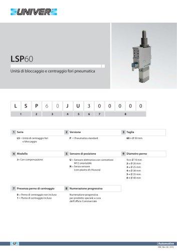 LSP60_Unità di centraggio fori e bloccaggio pneumatica