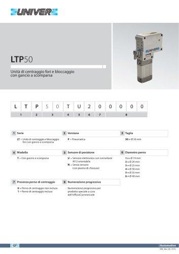 LTP50_Unità di centraggio fori e bloccaggio con gancio a scomparsa