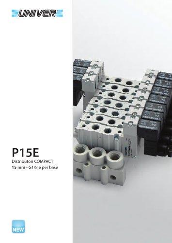 P15E Distributori COMPACT 15 mm - G1/8 e per base