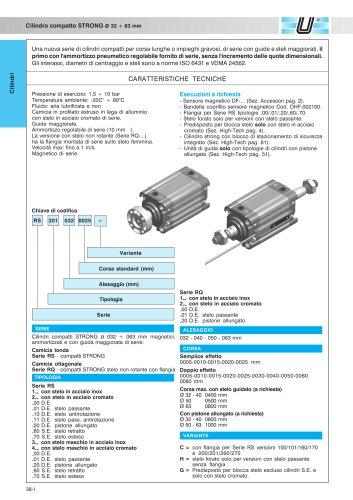 RQ_Cilindri compatti STRONG Ø 32-63 mm - tubo ottagonale