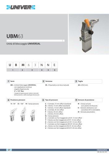 UBM63_Unità di bloccaggio UNIVERSAL