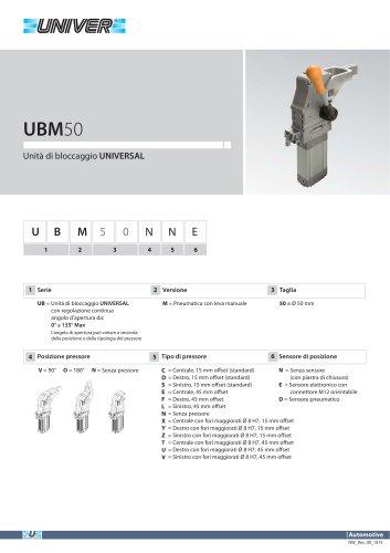 UMB50-Unità di bloccaggio UNIVERSAL