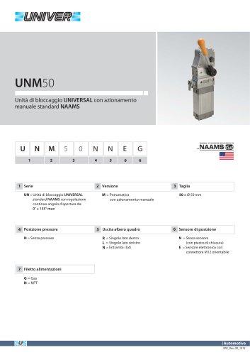 UNM50_Unità di bloccaggio UNIVERSAL con azionamento manuale standard NAAMS
