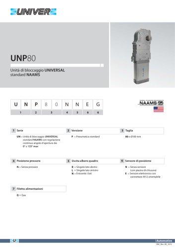 UNP80_Unità di bloccaggio UNIVERSAL standard NAAMS