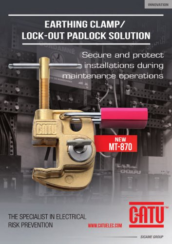 CATU LOCK OUT EARTHING CLAMP