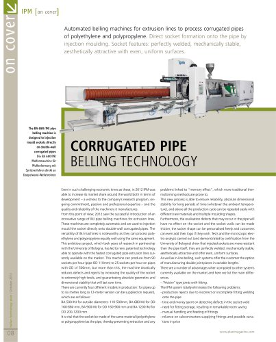 Corrugated pipe belling technology