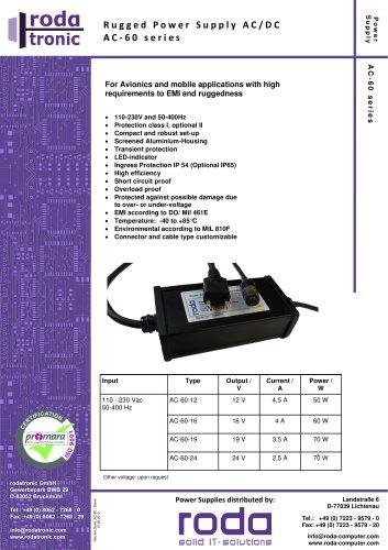 power supply AC/DC AC-60 series