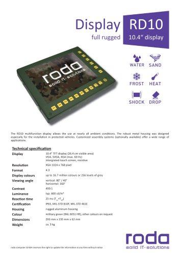 "RD10  Ruggedized 10"" Display"