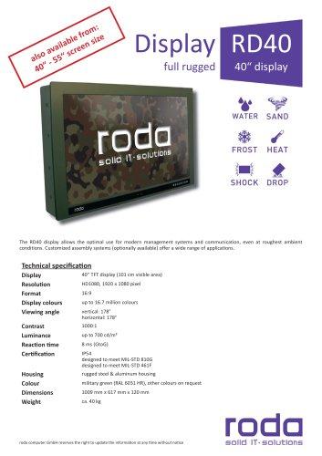 "RD40  Ruggedized 40"" Display"