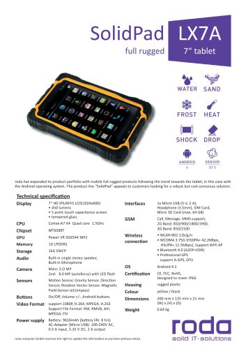 SolidPad LX7A