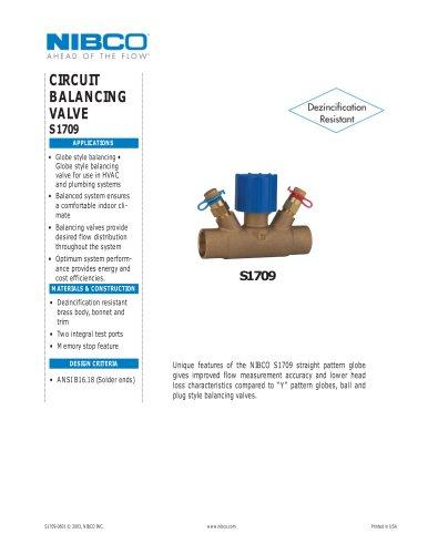 S1709 Circuit Balancing Valve NPI