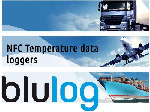 NFC temperature data loggers