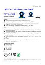 Open-loop Hall effect current sensor / AC / DC ø20, 50 - 500 A | SCY6D series