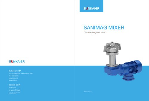 Magnetic mixer/Sanimag Mixer/Application for the hygienic and aseptic