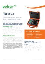 PDFM 5.1 Portable Doppler Flow Meter