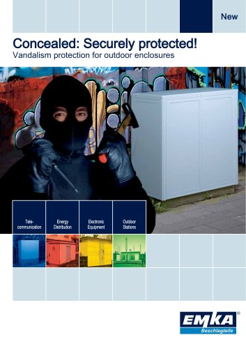 Vandalism protection for outdoor enclosures