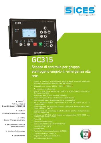 GC315 - Scheda di controllo per Gruppo elettrogeno automatico