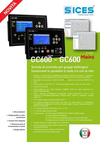 GC600 - Scheda di controllo per gruppi elettrogeni funzionanti in parallelo in isola e/o con la rete