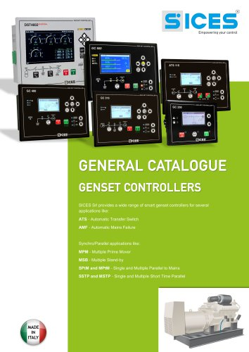 General catalogue_SICES Genset controllers