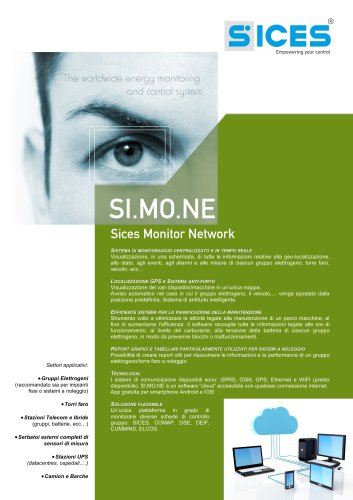SI.MO.NE - Sistema di controllo per la gestione di diverse schede di controllo