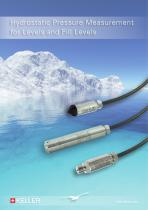 Hydrostatic Pressure Measurement for Levels and Fill Levels