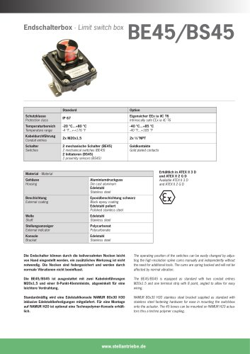 Limit Switch Box BE45/BS45