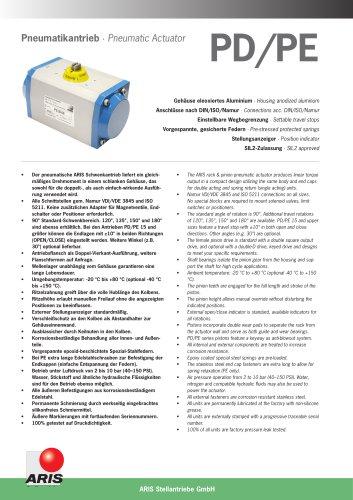 Pneumatic Actuator PD-PE